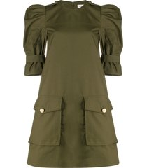 alexander mcqueen military style mini dress - green