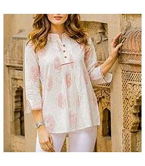 cotton tunic, 'cerise elegance' (india)