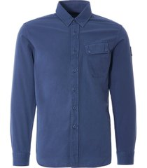 belstaff pitch twill shirt | racing blue | 71120237-rbl