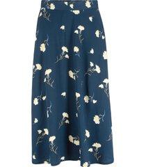 mönstrad vadlång kjol
