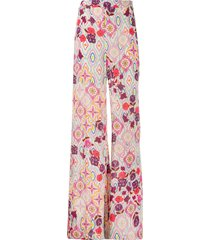 pinko all-over print trousers
