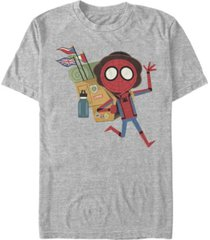 marvel men's spider-man far from home traveling spidey, short sleeve t-shirt