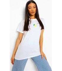 geborduurd citroen t-shirt, white