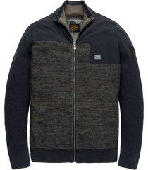zip jacket wool cotton mix salute