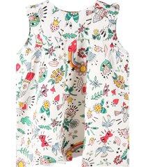 sonia rykiel white dress for babygirl with prints
