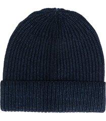 altea ribbed knit beanie - blue
