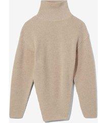 asymmetric merino turtleneck sweater