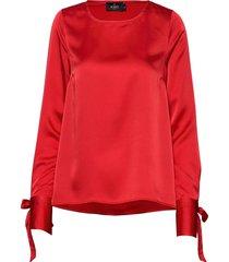 kari blouse blouse lange mouwen rood morris lady