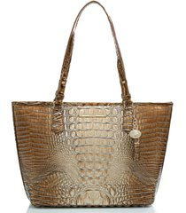 brahmin medium asher ombre melbourne embossed leather tote