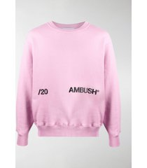 ambush logo-print cotton sweatshirt