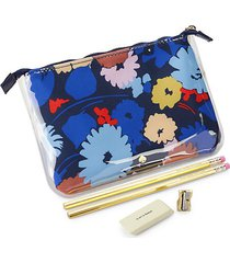 5-piece floral pencil pouch set