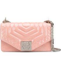 philipp plein bolsa tiracolo paradise pequena - rosa