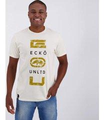 camiseta ecko authentic style off white.