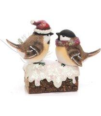 trans pac resin sensor santa hat bird figurine