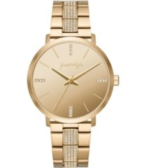 women's kendall + kylie gold tone crystal stainless steel strap analog watch 40mm