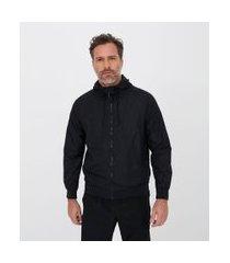 jaqueta esportiva quebra vento lisa com capuz | get over | anthracite | m