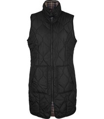 gilet trapuntato lungo con bottoni a pressione (nero) - bpc bonprix collection