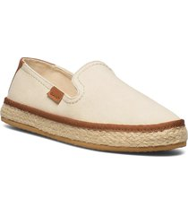 raffiaville espadril sandaletter expadrilles låga creme gant