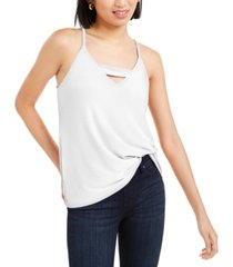 bar iii zip-back halter top, created for macy's
