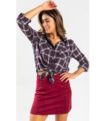 hattie suede mini skirt - burgundy