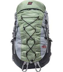 mochila trilhas & rumos alpina 43 litros verde e cinza