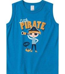 camiseta regata marisol play - 11207655i - azul - menino - dafiti