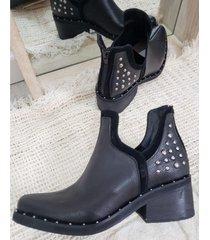 bota negra austri oxford