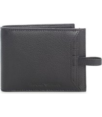emporio armani leather wallet w/extractable card holder