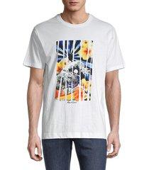 robert graham men's graphic cotton tee - white - size m