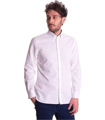 regular fit white trussardi jeans shirt