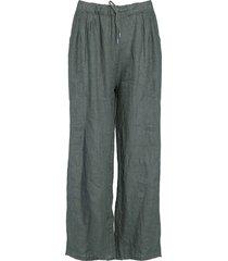 tiffany linen pants dark army, 18870