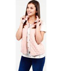 chaleco con cremallera y bolsillos palo de rosa 8