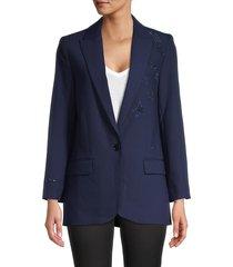 zadig & voltaire women's notch blazer jacket - sailor - size 38 (m)