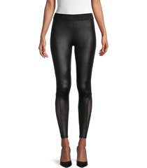 true religion women's mesh leggings - black - size s