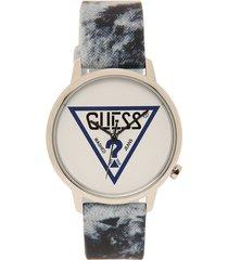 reloj azul-blanco guess