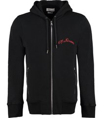 alexander mcqueen logo cotton hoodie
