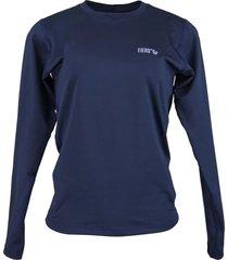 blusa tã©rmica feminina segunda pele thermo premium original slim fit - azul marinho - azul marinho - feminino - poliã©ster - dafiti