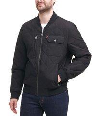 levi's men's diamond quilted bomber jacket
