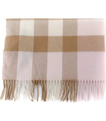 burberry cashmere scarf with check pattern