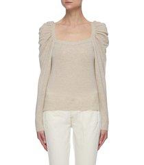 'femme' square neck cashmere sweater