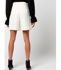 skall studio women's jenny heavy cotton shorts - white - l