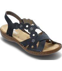 60865-14 shoes summer shoes flat sandals blå rieker