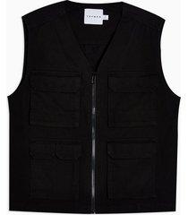 mens black four pocket vest