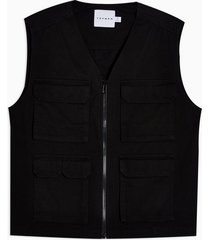 mens black four pocket vest