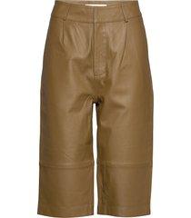 boline leather leggings/broek bruin custommade