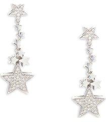effy women's 14k white gold & diamond star dangle earrings