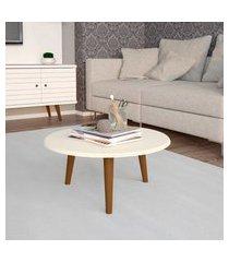 mesa de centro móveis bechara brilhante redonda off white