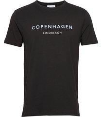 city print tee s/s t-shirts short-sleeved svart lindbergh