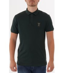 emporio armani manga bear patch polo shirt - verde 3g1f711j30z