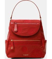 trapeze silhouette medium backpack - red - u